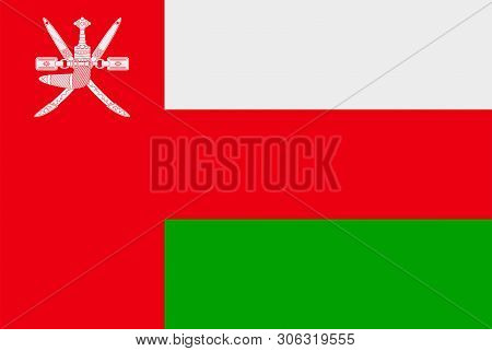 Flag Of Oman. Sovereign State Flag Of Oman