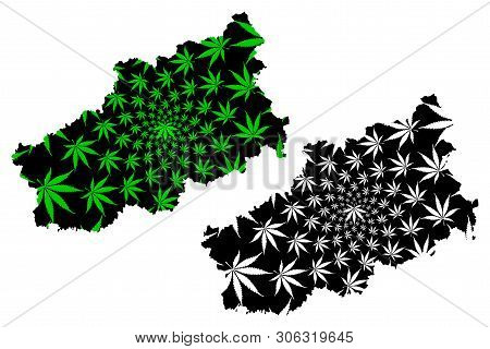 Tver Oblast (russia, Subjects Of The Russian Federation, Oblasts Of Russia) Map Is Designed Cannabis