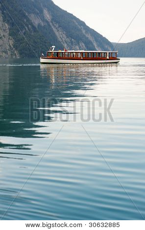 Tourboat In Konigssee Lake