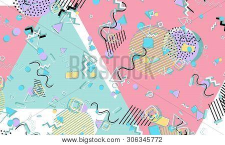 Memphis  90s Pattern Vector & Photo (Free Trial) | Bigstock
