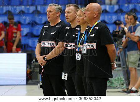 Kyiv, Ukraine - June 12, 2019: Coaches Of Denmark National Handball Team During Ehf Euro 2020 Qualif