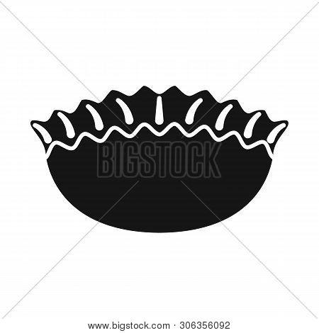 Vector Illustration Of Jiaozi And Ravioli Logo. Set Of Jiaozi And Dough Stock Symbol For Web.