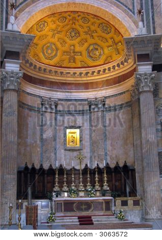 Altar In Pantheon Rome