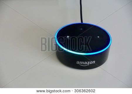 Orlando, Fl/usa-5/17/19: Amazon Alexa, Known As Alexa, Is A Virtual Assistant Developed By Amazon, F