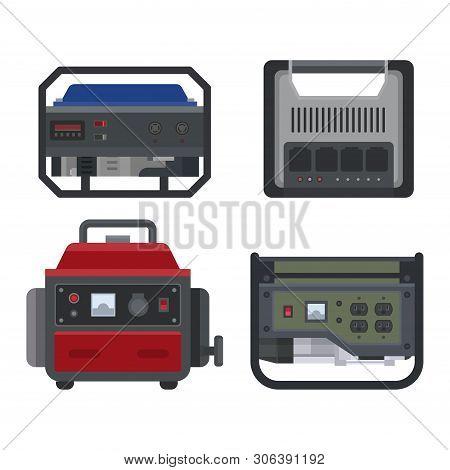 Generator Vector Power Generating Portable Gasoline Petrol Fuel Energy Industrial Electrical Engine