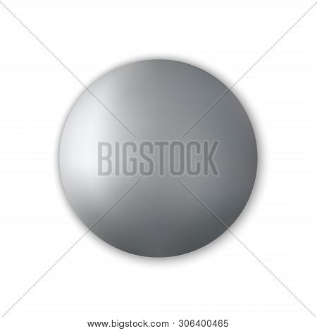 Realistic Attached Screws Or Bolt Isolated Vector Illustration