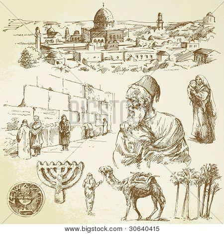 jerusalem - hand drawn set