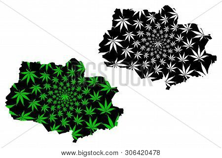 Tomsk Oblast (russia, Subjects Of The Russian Federation, Oblasts Of Russia) Map Is Designed Cannabi