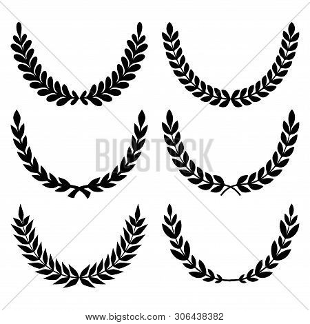 Wheats Ears Icons And Grain Design Elements For Beer, Organic Wheats Local Farm Fresh Food, Bakery T