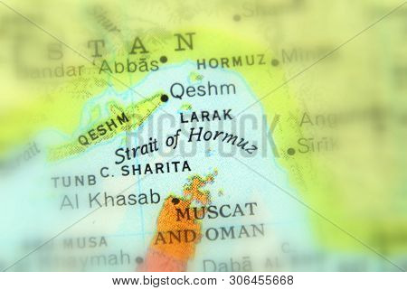 The Strait Of Hormuz, A Strait Between The Persian Gulf And The Gulf Of Oman. (selective Focus).
