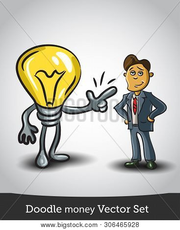 Good Idea, Conceptual Illustration For A Good Idea. Isolated On White Background. Vector