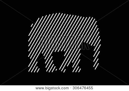 Elefant Vector Line Icon. Vector Illustration Eps 10
