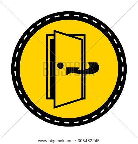 Keep Door Closed Symbol Sign Isolate On White Background,vector Illustration