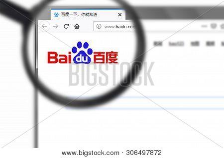 Novosibirsk, Russia - June 15, 2019 - Illustrative Editorial Of Baidu Inc Website Homepage. Baidu In
