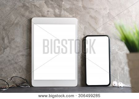 Tablet And Phone Showing Blank White Screen