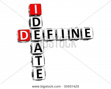 3D Define Ideate Crossword Cube Words