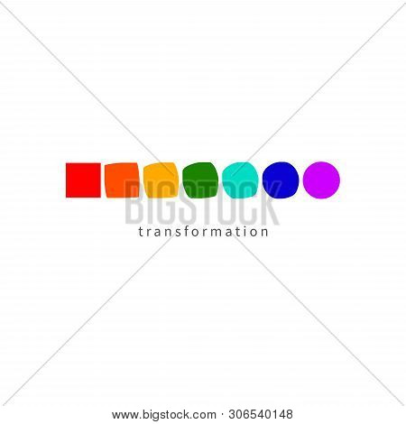 Change, Transformation, Evolution, Development, Coaching Icon, Color Rainbow Logo. Vector Illustrati