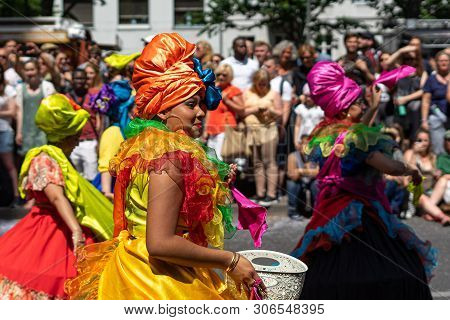 Berlin - June 09, 2019: The Annual Carnival Of Cultures (karneval Der Kulturen) Celebrated Around Th