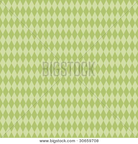 Seamless Green Diamond Background