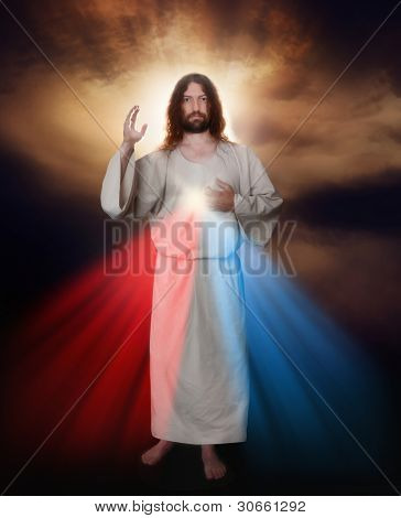 Divine Mercy image of Jesus as depicted by Sister Saint Faustina
