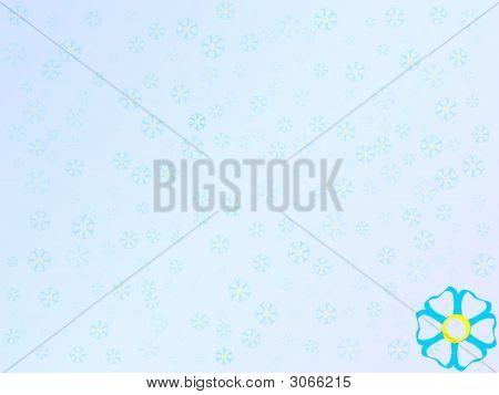 Lightblue Flowers Background