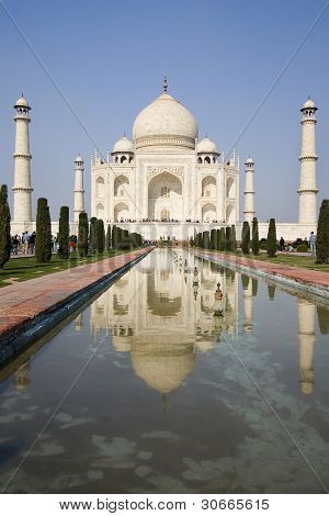 view from the beautiful wonder of the world Taj Mahal, Agra, India