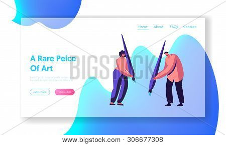 Artists With Paint Brush Drawing, Bodyart Concept, People Doing Body Or Painting Design, Artwork Les