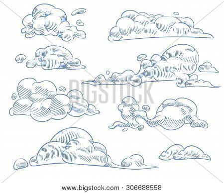 Sketch Clouds  Curled Vector & Photo (Free Trial) | Bigstock