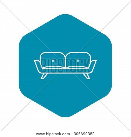 Divan Sofa Icon. Outline Divan Sofa Vector Icon For Web Design Isolated On White Background