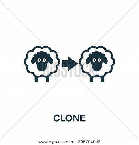 Clone Vector Icon Symbol. Creative Sign From Biotechnology Icons Collection. Filled Flat Clone Icon