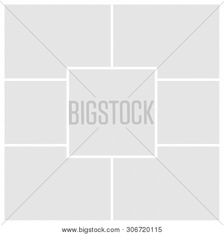 Frame For Photo Collage Or Picture Vector Illustration. Template Frame For Photo.  Layers Grouped Fo