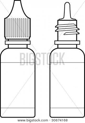 eye drops bottle line art