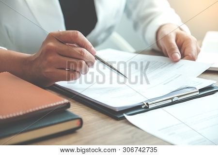 Business People Meeting Planning Strategy Talking About Business Plan, Progress Report For Business