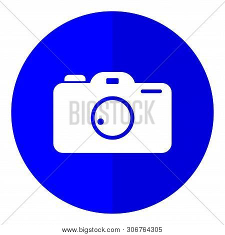 Photo Pamera Flat Icon On White Background, Photo Camera Icon Eps10, Photo Camera Icon Vector, Photo