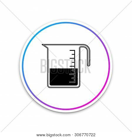 Measuring Cup To Measure Dry And Liquid Food Icon Isolated On White Background. Plastic Graduated Be