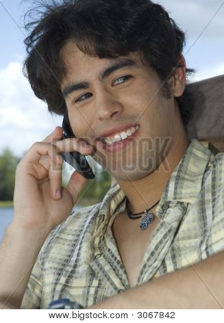 Male Model 1 On Cell Phone