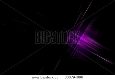 Purple Checkered Pattern On Black. Abstract Background.