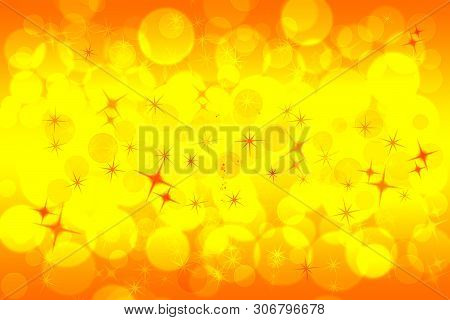 Orange Abstract Blurred Pattern Wallpaper. Defocused Holiday Background.