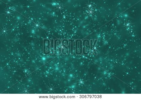 Star Camouflage. Azure Space Stars Constellation Defocused Pattern Wallpaper. Abstract Blurred Backg