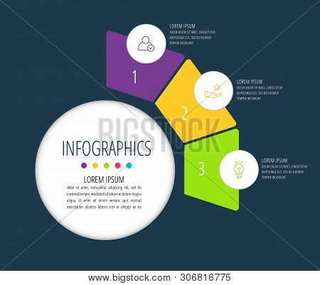 Vector infographic flat template sectors for two label, diagram, graph, presentation. Business concept with 2 options. For content, flowchart, steps, timeline, workflow, marketing, report poster