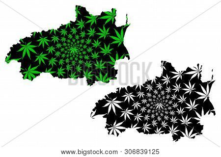 Ivanovo Oblast (russia, Subjects Of The Russian Federation, Oblasts Of Russia) Map Is Designed Canna