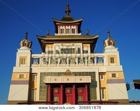 Elista, Republic Of Kalmykia, Russia - June, 2019: Burkhan Bakshin Altan Sume The Golden Abode Of Th