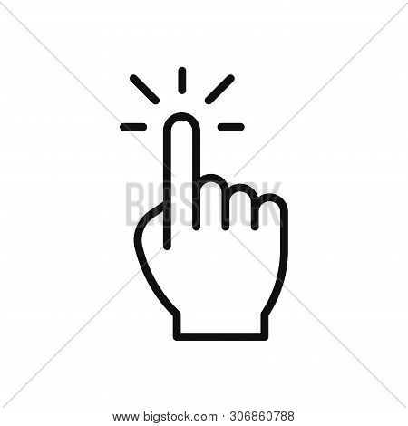 Hand Click Icon Isolated On White Background. Hand Click Icon In Trendy Design Style. Hand Click Vec