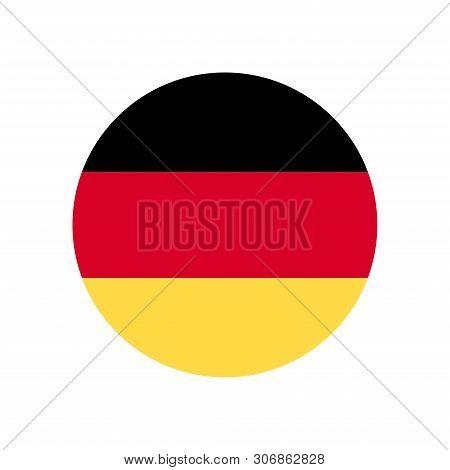 Germany Flag Icon Isolated On White Background. Germany Flag Icon In Trendy Design Style. Germany Fl