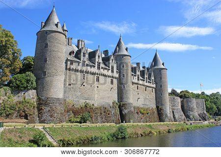 Josselin Castle By The River Oust In France