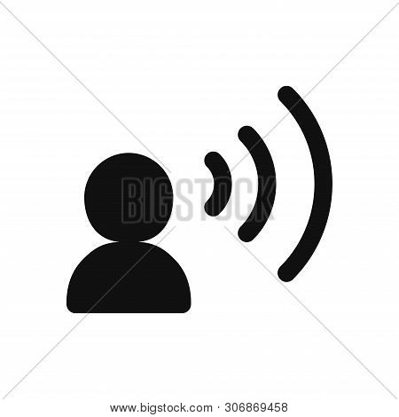 Speaking Icon Isolated On White Background. Speaking Icon In Trendy Design Style. Speaking Vector Ic