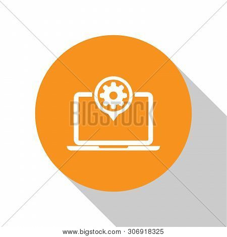 White Laptop Gear Vector & Photo (Free Trial) | Bigstock