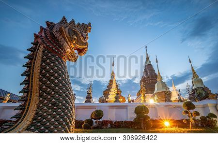 Wat Ban Den Temple Or Wat Den Sa Lee Si Mueng Gan, Temples In Chiang Mai, Thailand. No Restrict In C