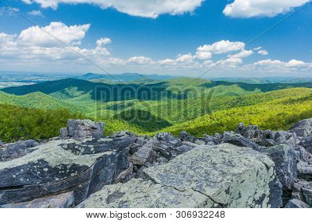 Blackrock Summit In Shenandoah National Park In Virginia, United States