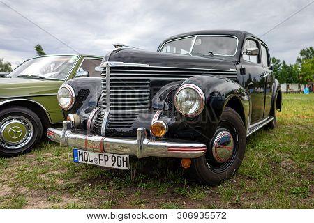 Paaren Im Glien, Germany - June 08, 2019: Executive Car Opel Kapitan (1948-1950). Die Oldtimer Show